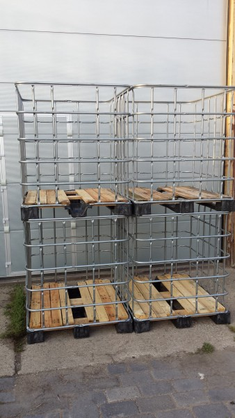 IBC GB 1000L PE Holzboden
